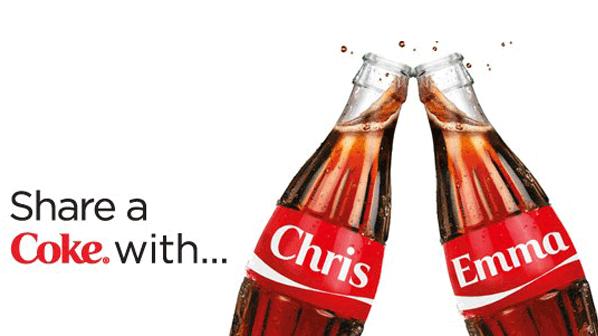 Personalised marketing Coke